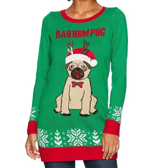 790551c72 blizzard bay Sweaters | Bah Num Pug Christmas Sweater Dress | Poshmark